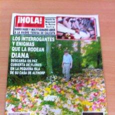 Coleccionismo de Revista Hola: REVISTA ¡HOLA! Nº 2772 - SEPTIEMBRE 1997 - MUERTE DE LADY DI Y MADRE TERESA DE CALCUTA. Lote 137196586