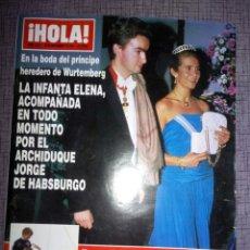 Coleccionismo de Revista Hola: REVISTA HOLA, NOVIEMBRE 1993, NÚMERO 2572. Lote 137223185