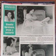 Coleccionismo de Revista Hola: RECORTE HOLA 1931 1981 CLAUDIA CARDINALE. PILAR MIRO. Lote 137273426