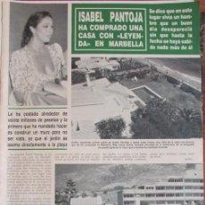 Coleccionismo de Revista Hola: RECORTE HOLA 2452 1991 ISABEL PANTOJA. Lote 137273590