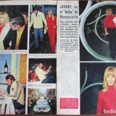 Coleccionismo de Revista Hola: RECORTE HOLA Nº 1170 1967 SYLVIE VARTAN, JOHNNY HALLYDAY EN EL RALLYE DE MONTECARLO. 3 PGS. Lote 137290762