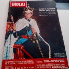 Coleccionismo de Revista Hola: CARLOS DE INGLATERRA PRINCIPE DE GALES.FESTIVAL DE SAN SEBASTIAN.JUDY GARLAN.HOLA Nº 1297.1969.. Lote 137447650
