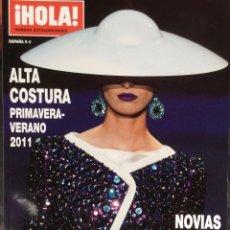 Coleccionismo de Revista Hola: HOLA .- NÚMERO EXTRAORDINARIO.- PRIMAVERA VERANO 2011. Lote 137805746