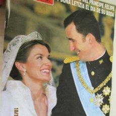 Coleccionismo de Revista Hola: REVISTA HOLA HOLA Nº 3122 - PRINCIPE FELIPE Y DOÑA LETIZIA EL DIA DE SU BODA 3 -6 2004 - 366 PAGS. Lote 137915814