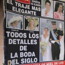 Coleccionismo de Revista Hola: REVISTA HOLA Nº 3123 LOS DETALLES DE LA BODA DEL PRINCIPE FELIPE Y DOÑA LETIZIA- 10/06/2004- 252PAG. Lote 137916346