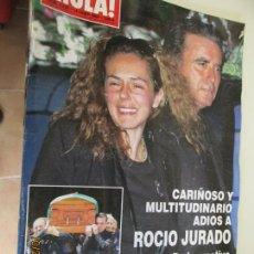 Coleccionismo de Revista Hola: REVISTA HOLA 3228 CARIÑOSO Y MULTITUDINARIO ADIOS A ROCIO JURADO 140 PAG. . Lote 137916546