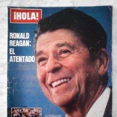 Coleccionismo de Revista Hola: HOLA - 1981 - RONALD REAGAN, P. MCCARTNEY, CAROLINA, CARLOS Y DIANA, J. HALLYDAY, CHRISTOPHER REEVE. Lote 41574306