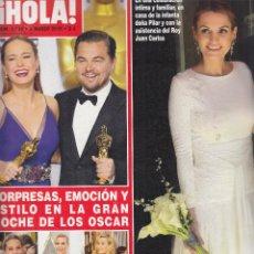 Coleccionismo de Revista Hola: REVISTA HOLA Nº 3736 AÑO 2016. LA NOCHE DE LOS OSCAR. BODA BELTRAN GOMEZ ACEBO Y ANDRE PASCUAL.. Lote 140270318