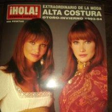 Collectionnisme de Magazine Hola: HOLA. NÚMERO ESPECIAL DE ALTA COSTURA. OTOÑO INVIERNO 1993 - 94. GRAN FORMATO.. Lote 176950492