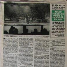 Coleccionismo de Revista Hola: RECORTE HOLA Nº 1937 1981 JULIO IGLESIAS, MIGUEL BOSE, MIREILLE MATHIEU, ANNA MOUSKOURI. Lote 141751434