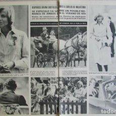Coleccionismo de Revista Hola: RECORTE REVISTA HOLA 1663 1976 DAVINA SHEFFIELD, CARLOS DE INGLATERRA. Lote 142882158