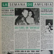 Coleccionismo de Revista Hola: RECORTE REVISTA HOLA 1663 1976 LOLA FLORES, CANTINFLAS, ALFREDO LANDA, PACO DE LUCIA. Lote 142882414
