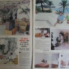 Coleccionismo de Revista Hola: RECORTE REVISTA HOLA 1826 1979 LUIS MIGUEL DOMINGUIN. Lote 142882502