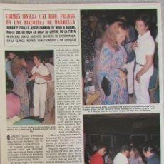 Coleccionismo de Revista Hola: RECORTE REVISTA HOLA 1826 1979 CARMEN SEVILLA.. Lote 142882958
