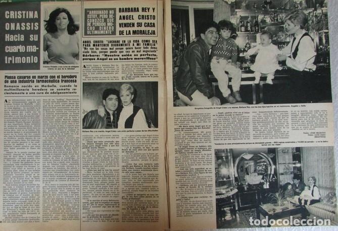 RECORTE REVISTA HOLA 2061 1984BARBARA REY. TOLDERIA, OLE OLE, MIGUEL GALLARDO, LAUREN POSTIGO. (Coleccionismo - Revistas y Periódicos Modernos (a partir de 1.940) - Revista Hola)