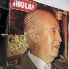 Coleccionismo de Revista Hola: FRANCO HA MUERTO REVISTA HOLA Nº ESPECIAL . Lote 143648850
