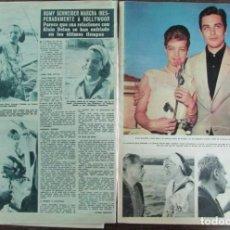 Coleccionismo de Revista Hola: RECORTE HOLA 992 1963 ROMY SCHNEIDE, ALAIN DELON. Lote 144484194