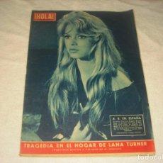 Coleccionismo de Revista Hola: ¡ HOLA ! Nº 711, ABRIL 1958. BRIGITTE BARDOT EN ESPAÑA.. Lote 146084566