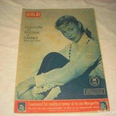 Coleccionismo de Revista Hola: ¡ HOLA ! , Nº 717 , MAYO 1958. CLAUSURA FESTIVAL DE CANNES, DANY ROBIN EN PORTADA. Lote 146085074