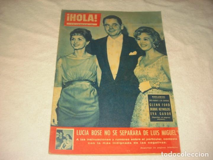 ¡ HOLA ! Nº 759, MARZO 1959 , GLENN FORD, BEBBIE REYNOLDS , EVA GAVOR.LUCIA BOSE NO SE SEPARA. (Coleccionismo - Revistas y Periódicos Modernos (a partir de 1.940) - Revista Hola)