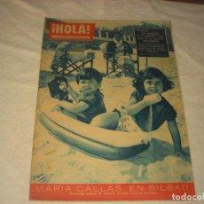 Coleccionismo de Revista Hola: ¡ HOLA ! Nº 787 . MARIA CALLAS EN BILBAO . LOS MARQUESES DE VILLAVERDE EN BASTAIGUEROS. Lote 146093562