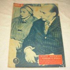 Coleccionismo de Revista Hola: ¡ HOLA ! Nº 690 , NOVIEMBRE 1957. INGRID BERGMAN Y ROSSELLINI SE SEPARAN. Lote 146095442
