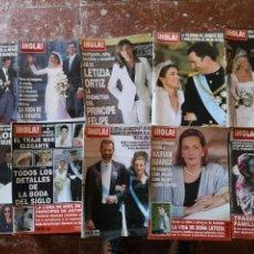 Coleccionismo de Revista Hola: 10 REVISTAS HOLA. Lote 146792254