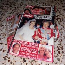 Coleccionismo de Revista Hola: REVISTAS DEL CORAZÓN. BODA HOLA FAMOSOS, LOTE 15 DIFS, 1988 A 2011 (JUDITH MASCÓ, PIERCE BROSNAN). Lote 147624462