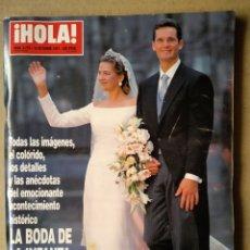 Coleccionismo de Revista Hola: REVISTA ¡HOLA! N°2.775. ESPECIAL BODA DE LA INFANTA CRISTINA E IÑAKI URDANGARÍN. 16 OCTUBRE 1997. Lote 147748493