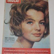 Coleccionismo de Revista Hola: HOLA #1079 1965 ROMY SCHNEIDER SYLVIE VARTAN SHEILA MARISOL VESPA LIZ TAYLOR ROYALTY UK. Lote 148135782