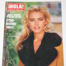 Coleccionismo de Revista Hola: HOLA PRET-A-PORTER 1996 VALERIA MAZZA JUDIT MASCÓ VICTORIA SILVSTEDT KATE MOSS REVISTA MODA. Lote 148136254