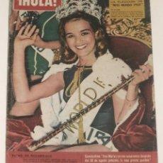 Coleccionismo de Revista Hola: HOLA #1003 1963 MISS WORLD CONTEST THE BEATLES MICHELE MORGAN BRIGITTE BARDOT SPAIN MAGAZINE REVISTA. Lote 148136586