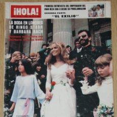 Coleccionismo de Revista Hola: RINGO STARR BARBARA BACH BODA 1981 PORTADA HOLA & ARTICULO INTERIOR BEATLES FOTOS CLIPPINGS. Lote 148137410