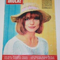 Coleccionismo de Revista Hola: HOLA #1154 1966 ELSA MARTINELLI SYLVIE VARTAN BEATLES JACKIE KENNEDY REZA IRAN MARY QUANT LA SINGLA. Lote 148138782