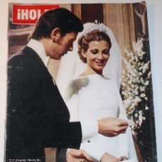 Coleccionismo de Revista Hola: BODA MARIOLA MARTINEZ-BORDIU HOLA 1974 PORTADA & INTERIOR FRANCO ROYAL WEDDING. Lote 148138902