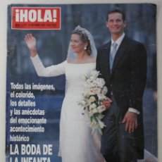 Coleccionismo de Revista Hola: BODA REAL INFANTA CRISTINA & IÑAKI URDANGARINSPAIN PORTADA HOLA 1997 & 76 PÁGINAS. Lote 148139182