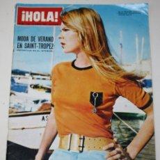 Coleccionismo de Revista Hola: HOLA #1182 1967 SAINT-TROPEZ BRIGITTE BARDOT CLAUDIA CARDINALE SOPHIA LOREN CHARLES CHAPLIN REVISTA. Lote 148140130