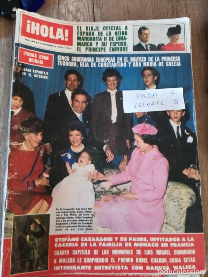 HOLA 2045 * NOVIEMBRE 1983 * MIGUEL DOMINGUIN + BRIGITTE BARDOT + URSULA ANDRESS + CAROLINA * 55 (Coleccionismo - Revistas y Periódicos Modernos (a partir de 1.940) - Revista Hola)