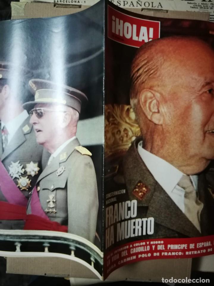 Coleccionismo de Revista Hola: Revista HOLA ESPECIAL FRANCO HA MUERTO - Foto 5 - 150892430