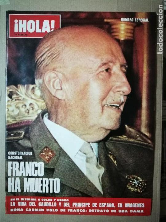 REVISTA HOLA ESPECIAL FRANCO HA MUERTO (Coleccionismo - Revistas y Periódicos Modernos (a partir de 1.940) - Revista Hola)