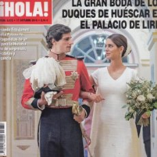 Coleccionismo de Revista Hola: REVISTA HOLA N 3872 AÑO 2018. BODA DE LOS DUQUES DE HUESCAR.. Lote 209128823