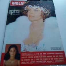 Coleccionismo de Revista Hola: ROMY SCHNEIDER.BARBARA BARNARD.PILAR FRANCO.ARTURO FERNANDEZ..REVISTA HOLA Nº 1.636.ENERO 1976.. Lote 152520906