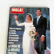 Coleccionismo de Revista Hola: HOLA: BODA INFANTA CRISTINA (AÑO 1997). Lote 153301062