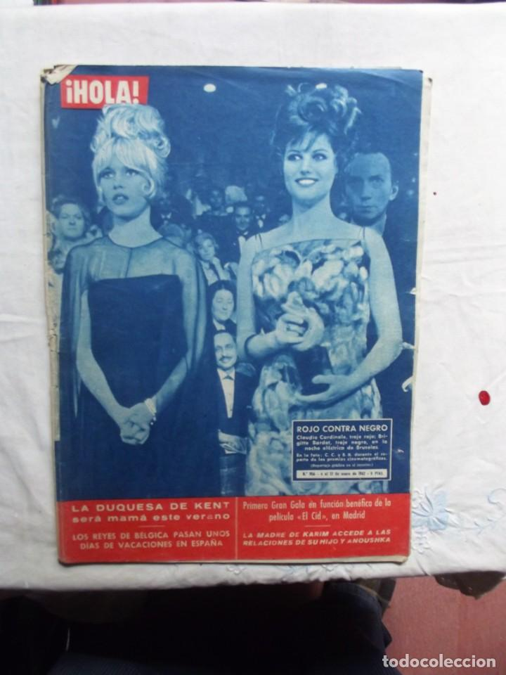 REVISTA HOLA Nº 906 - 6 AL 12 DE ENERO DE 1962 CLAUDIA CARDINALE Y BRIGITTE BARDOT (Coleccionismo - Revistas y Periódicos Modernos (a partir de 1.940) - Revista Hola)