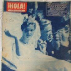 Coleccionismo de Revista Hola: REVISTA HOLA Nº 875 1961 BIRGITTA DE SUECIA. FABIOLA, MISS FRANCIA, DIANA DORS, FARAH DIBA, HUSSEIN. Lote 154147746