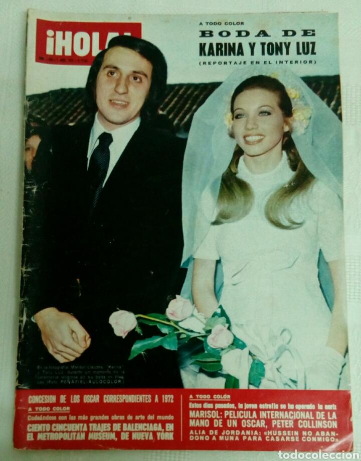 HOLA 1493.7-4-1973.BODA DE KARINA. OSCARS 72.LAUREN BACALL. (Coleccionismo - Revistas y Periódicos Modernos (a partir de 1.940) - Revista Hola)