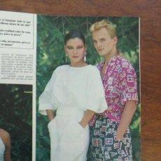 Coleccionismo de Revista Hola: MIGEL BOSE JUNCAL RIVERO MISS EUROPA LUIS MIGUEL DOMINGUIN 5 HOJAS REVISTA AÑO 1985. Lote 154989162