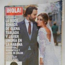 Coleccionismo de Revista Hola: HOLA REVISTA 3881 , 19-12-2018 LA BODA SOÑADA DE ELENA TABALADA Y JAVIER UNGRIA EN LA HABANA. Lote 156402050