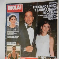 Coleccionismo de Revista Hola: HOLA REVISTA 3885 16-01-2019 FELICIANO LOPEZ Y SANDRA GAGO SE CASAN . Lote 156404402