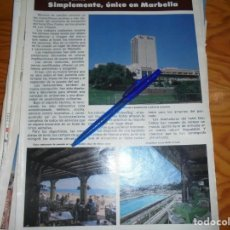 Coleccionismo de Revista Hola: RECORTE PRENSA : NUEVO HOTEL DON CARLOS, UNICO EN MARBELLA HOLA, JUNIO 1981 (). Lote 156636802